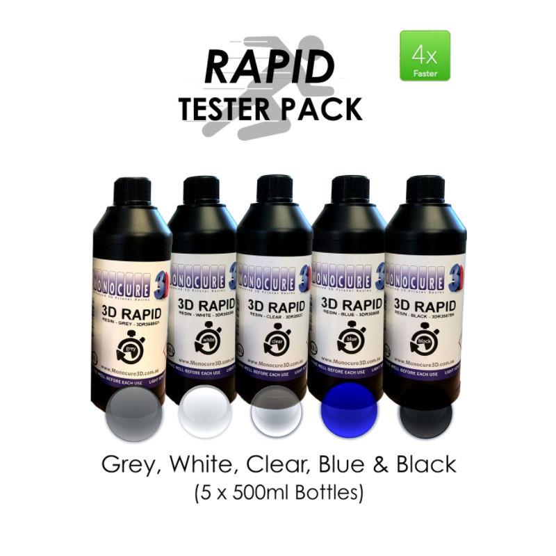 Grey monocure rapid 3D resin 500ML from monocure resin