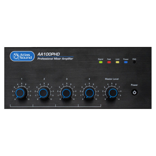 AtlasIED AA100PHD 4-Input, 100-Watt Mixer Amplifier