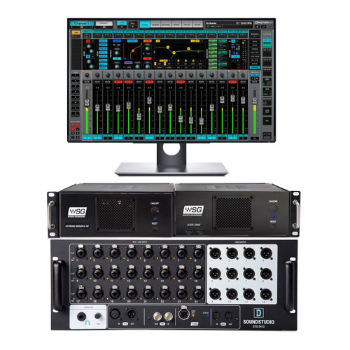 Waves LV64EXC2412 eMotion LV1 Complete Live Mixing System