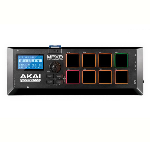 Akai MPX8 Mobile SD Sample Player top