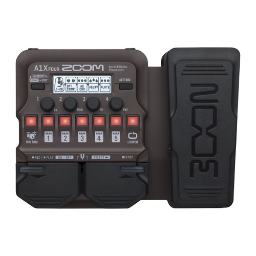 Zoom A1X FOUR Multi-Effects Processor with Expression Pedal