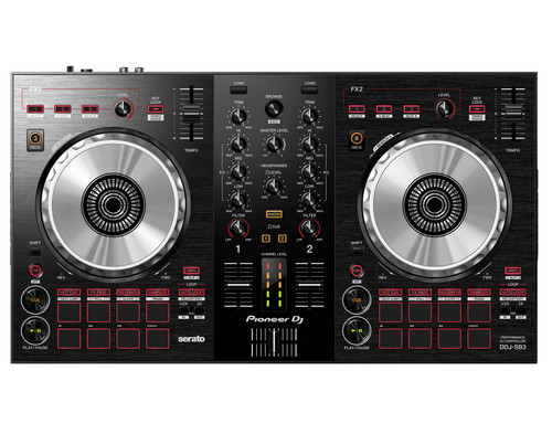 Pioneer DJ DDJ-SB3 2-Channel DJ Controller, Black