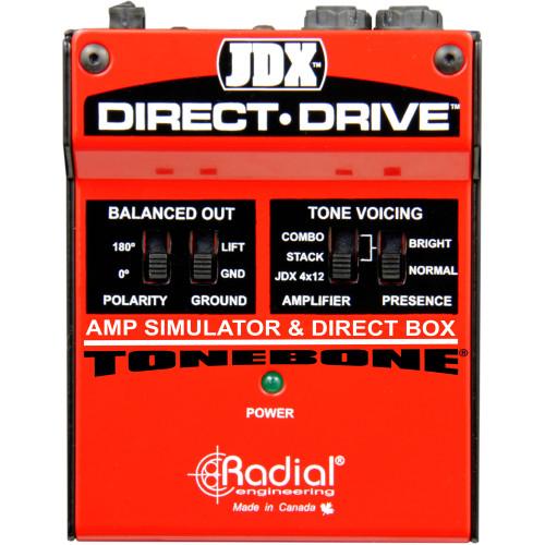 Radial JDX Direct-Drive Amp Simulator & DI Box