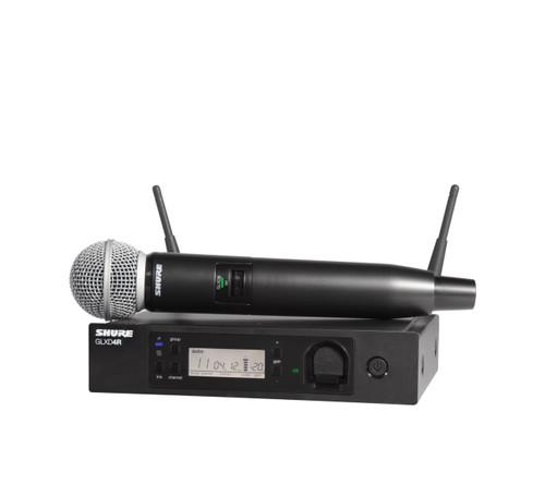 Shure GLXD24R/SM58 (Z2) Wireless Handheld System Front with Handheld Wireless Mic