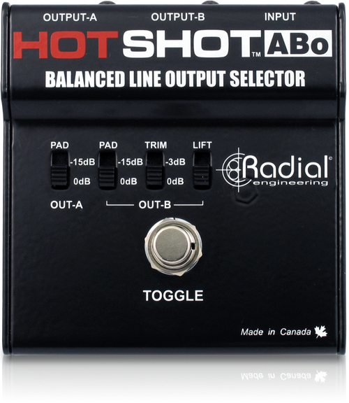 Radial HotShot ABo Line Output Selector Top
