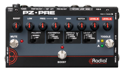 Radial PZ-Pre Acoustic Instrument Preamp Top