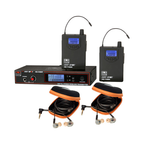 Galaxy Audio AS-1110-2 Wireless In-Ear Twin Pack Monitor System