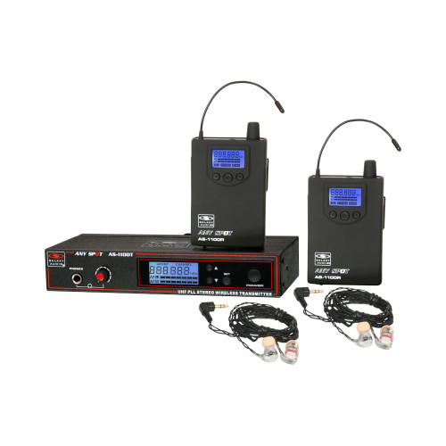 Galaxy Audio AS-1106-2 Wireless In-Ear Twin Pack Monitor System