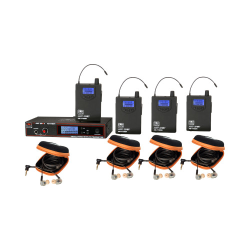 Galaxy Audio AS-1110-4 4-User Personal Wireless System