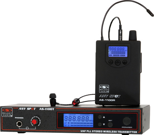 [DISCONTINUED] Galaxy Audio AS-1100-2 Wireless In-Ear Twin Pack Monitor System
