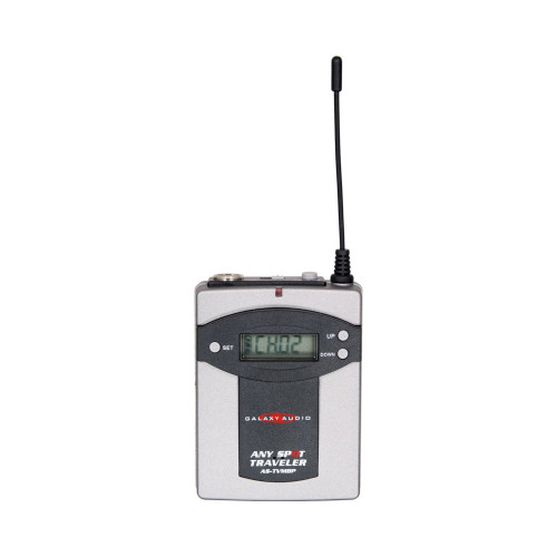 Galaxy Audio AS-TVMBPG Wireless Bodypack Transmitter for Traveler PA System