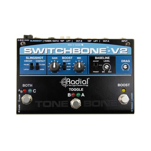 Radial Switchbone-V2 Amp Selector & Boost Pedal