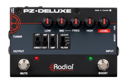 Radial PZ-Deluxe Acoustic Instrument Preamp Top