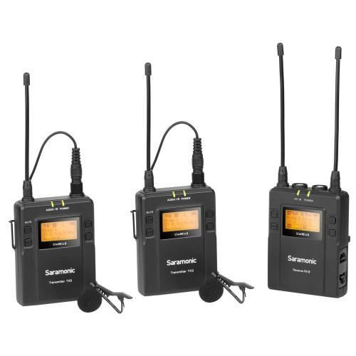 Saramonic UWMic 9 RX9+TX9+TX9 2-Person Wireless Lavalier Wireless System