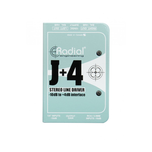 Radial J+4 Stereo Line Driver Interface