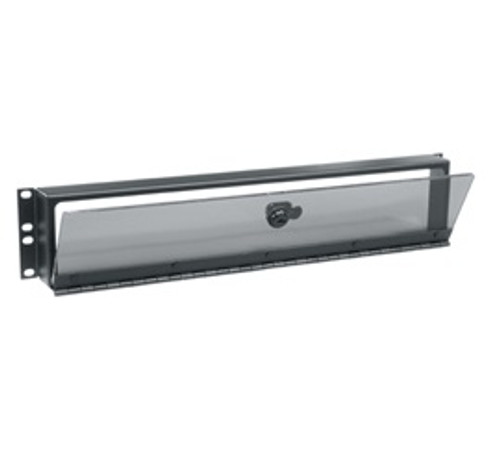 Middle Atlantic SECL Series Fixed Security Cover With Hinged Plexi Door