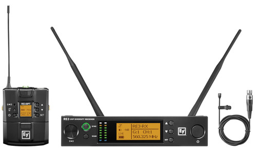 Electro-Voice RE3-BPOL UHF Wireless Lavalier Microphone System