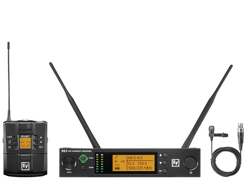 Electro-Voice RE3-BPCL UHF Wireless Lavalier Microphone System