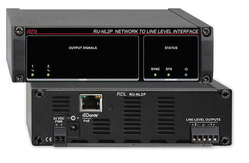 RDL RU-NL2P Network to Line Level Interface