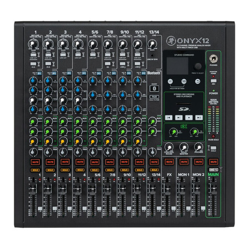 Mackie ONYX12 12-Channel Analog Mixer with Multitrack USB