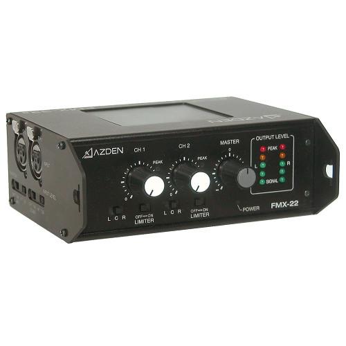 Azden FMX-22 2-Channel Portable Audio Mixer top right