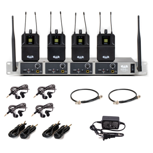 CAD GXLIEM4 Quad Mix Wireless In-Ear Monitor System