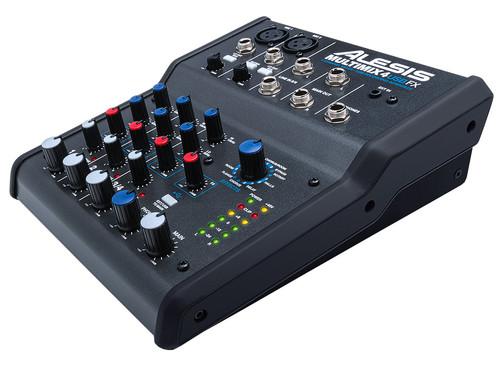 Alesis MultiMix 4 USB FX 4-Channel Desktop Analog Mixer