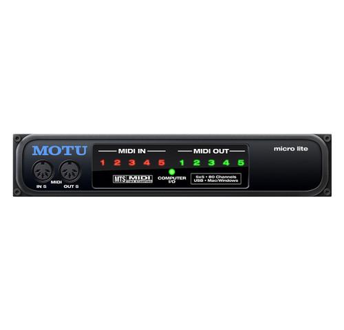 MOTU micro lite 5x5 USB Bus-Powered MIDI Interface