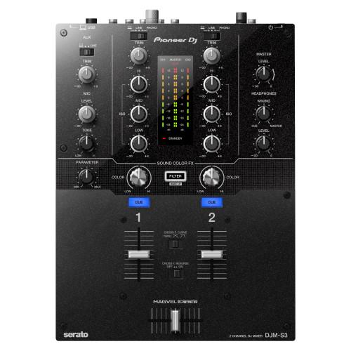 Pioneer DJ DJM-S3 2-Channel DJ Mixer top