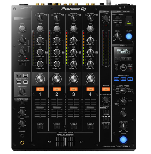 Pioneer DJ DJM-750MK2 4-Channel Performance DJ Mixer top