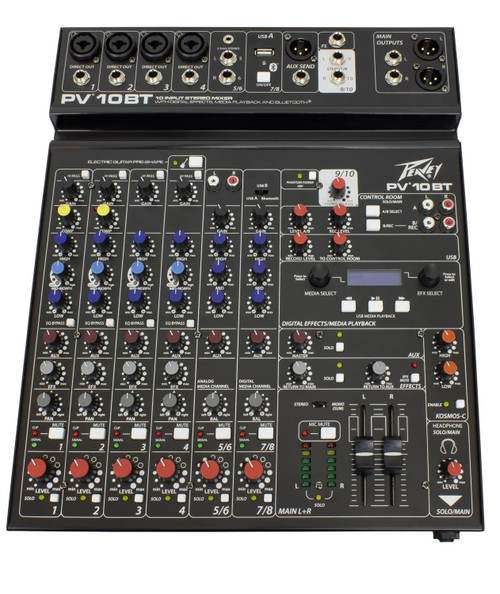 Peavey PV 10BT 10-Channel Compact Analog Mixer