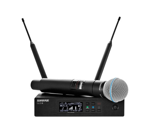 Shure QLXD24/B58 Handheld Wireless System Front with Mic