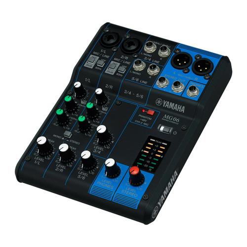 Yamaha MG06 6-Channel Compact Analog Mixer