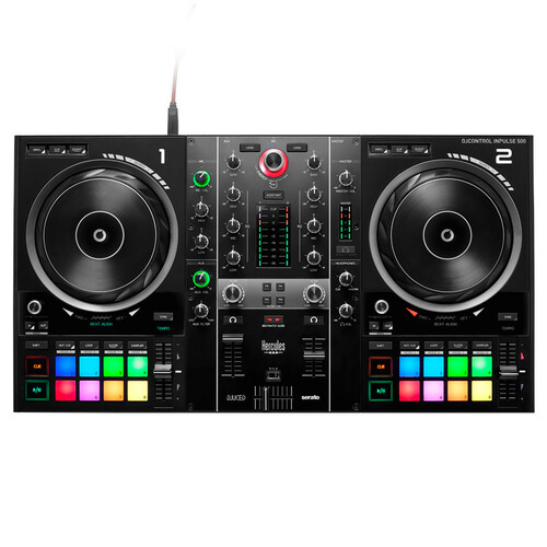 Hercules DJControl Inpulse 500 DJ Controller top