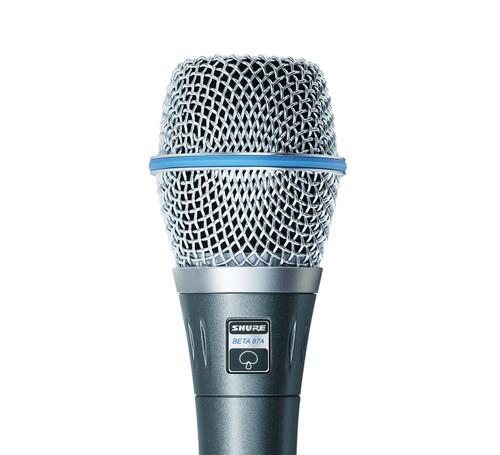 Shure BETA 87A Vocal Condenser Microphone Close Up
