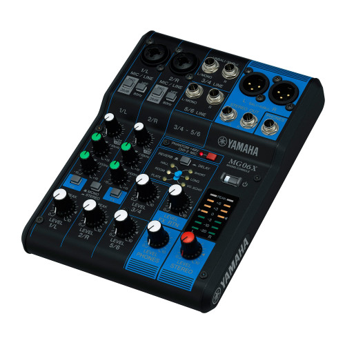 Yamaha MG06X 6-Channel Compact Analog Mixer with Effects