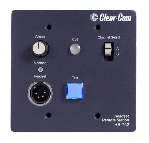 Clear-Com HB-702 2 Channel Remote Headset Station