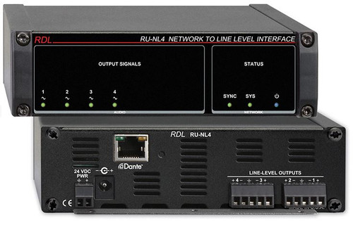 RDL RU-NL4 Network to Line Level Interface