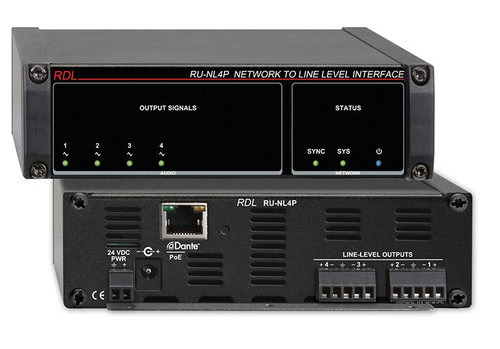 RDL RU-NL4P Network to Line Level Interface