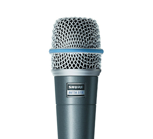 Shure Beta 57A Dynamic Instrument Microphone Close Up