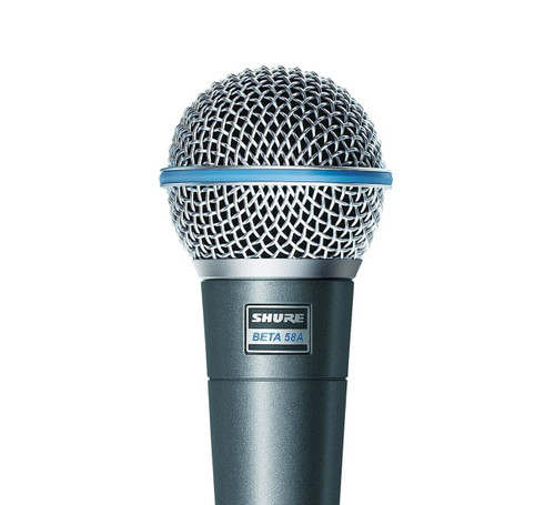 Shure Beta 58A Dynamic Vocal Microphone Close-Up