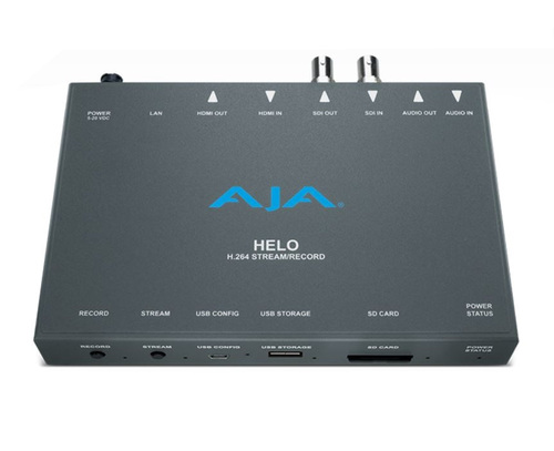 AJA HELO H.264 Streamer and Recorder top