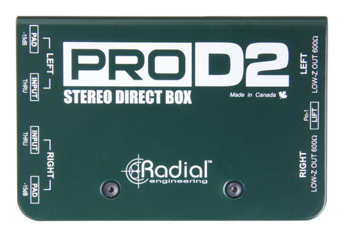 Radial ProD2 Stereo Passive Direct Box Top