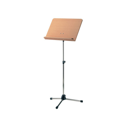 K&M 118/1 Orchestra Music Stand, Black Stand & Wooden Desk