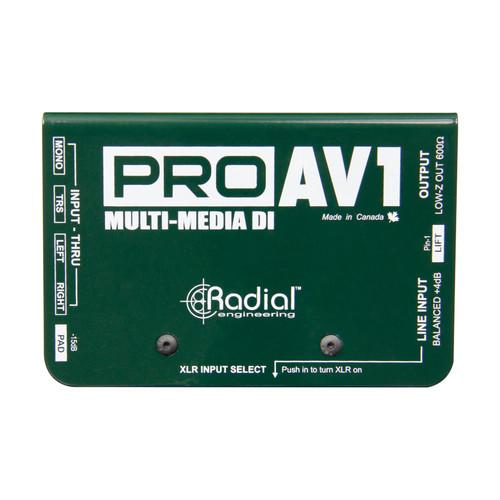 Radial PROAV1 Passive Multimedia Direct Box