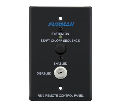 Furman RS-2 Key Switched Remote System Control Panel with Momentary Start