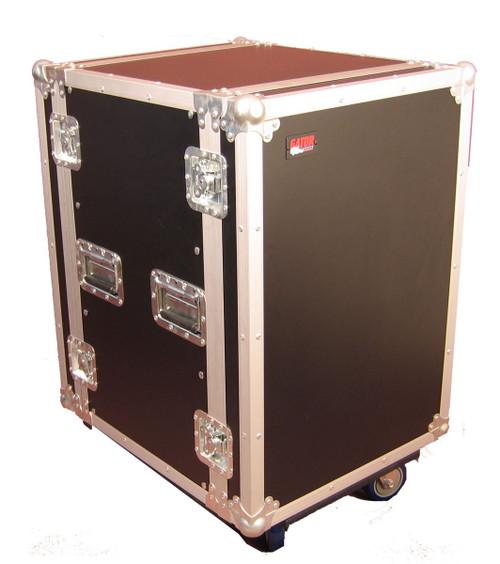 Gator G-TOUR 14U CAST ATA Wood Flight Rack Case with Casters