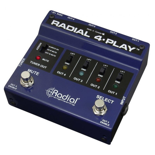 Radial 4-Play Multi-Output Direct Box