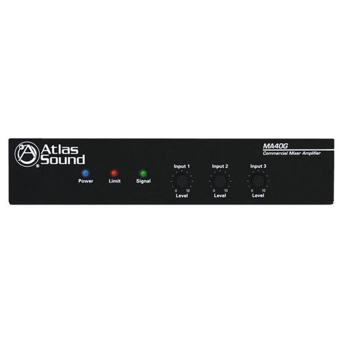 AtlasIED MA40G 40-Watt, 3-Input Mixer Amplifier