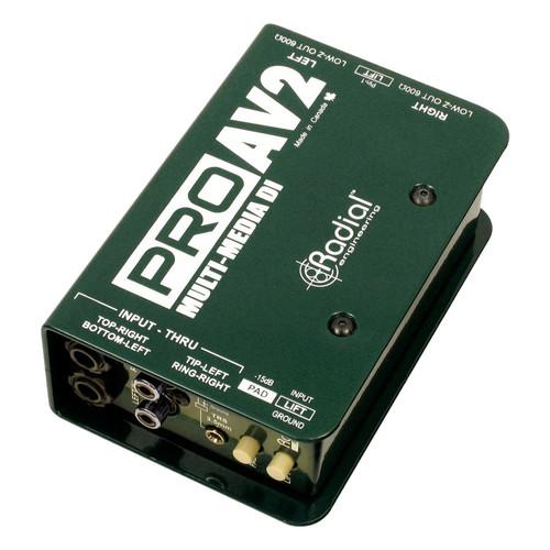 Radial PROAV2 Stereo Passive Multimedia Direct Box